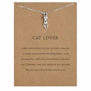 Silver Cat Lover Necklace